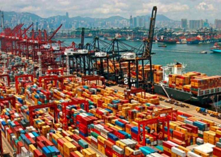 Containers at Shanghai port