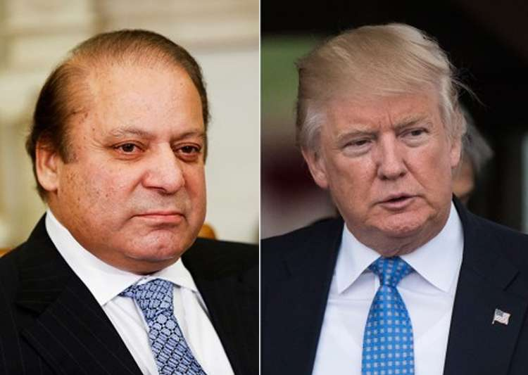 File pic of Nawaz Sharif and Donald Trump - India Tv
