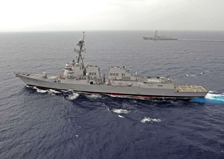 US Navy ship sails near South China Sea reef claimed by Beijing