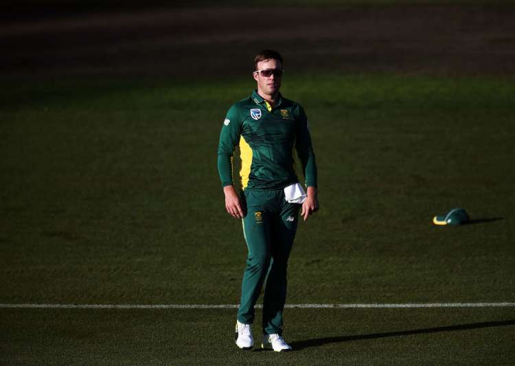 AB de Villiers of South Africa on the field