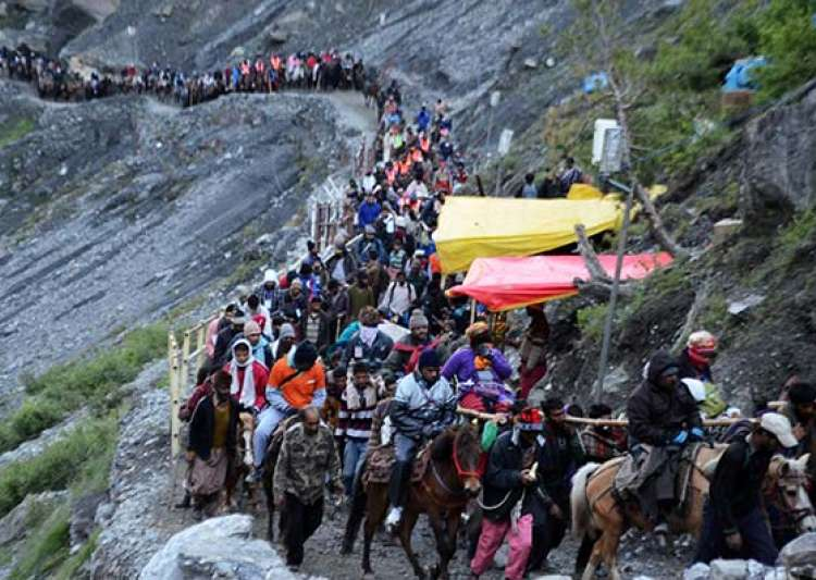 2,480 pilgrims leave for Amarnath amid tight security- India Tv
