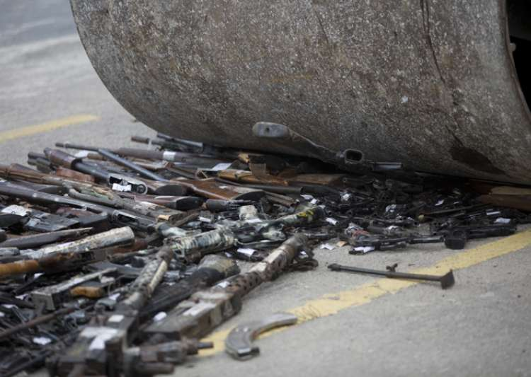 Brazil destroys over 4,000 guns seized from criminals