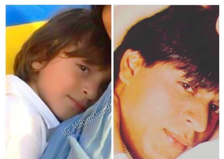 Shah Rukh Khan shares adorable pic with son AbRam- India Tv