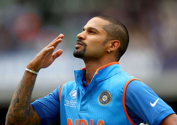 Shikhar Dhawan reacts after slamming a hundred against Sri- India Tv