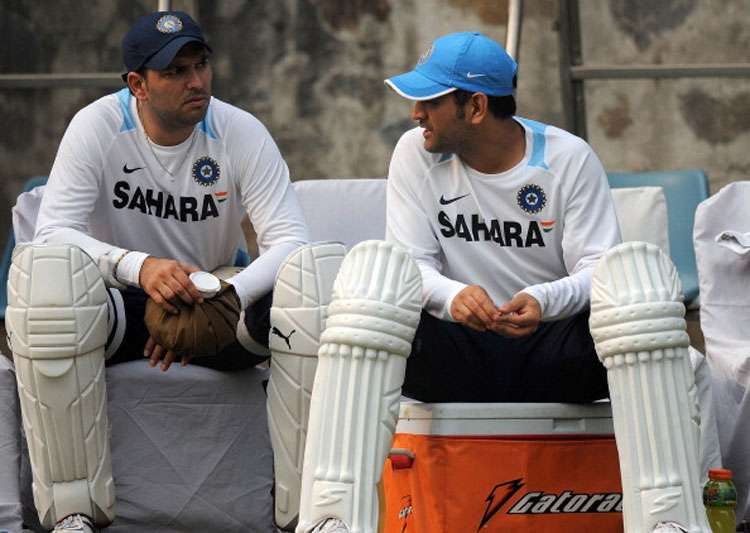 A file image of MS Dhoni and Yuvraj Singh.- India Tv