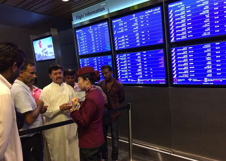 Passengers of cancelled flights wait at Dohar Airport - India Tv