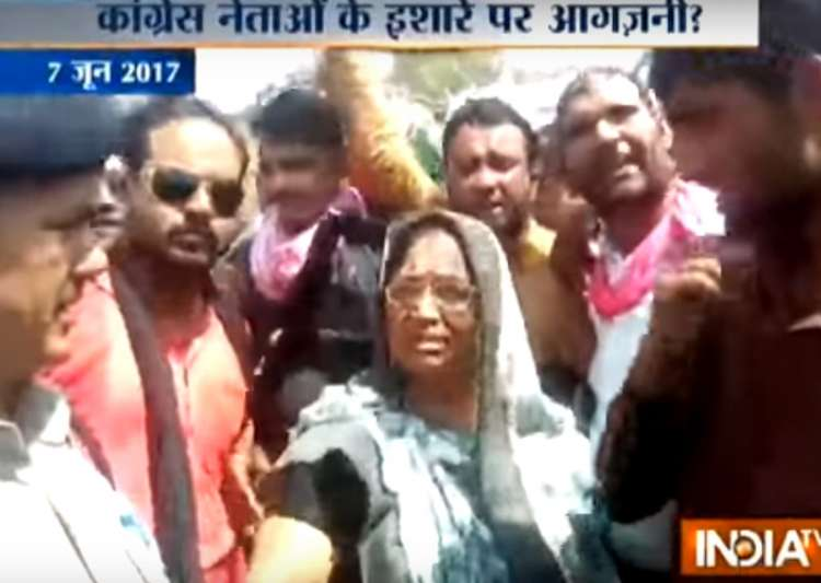 Congress hand in MP violence?