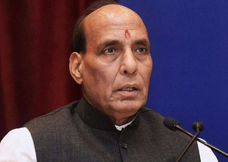 File pic of Union Home Minister Rajnath Singh - India Tv