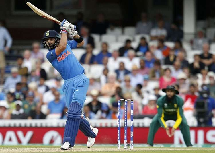 Virat Kohli plays a shot during the game against South- India Tv