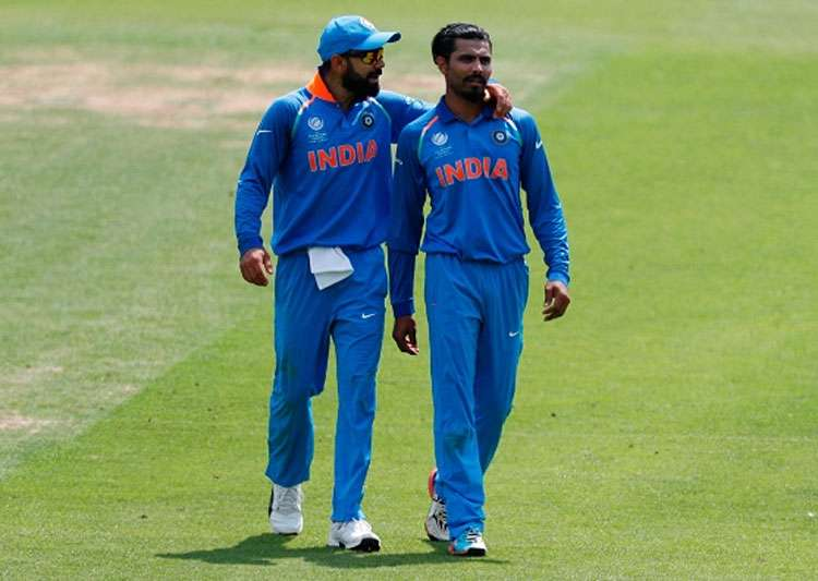 Virat Kohli and Ravindra Jadeja in action.