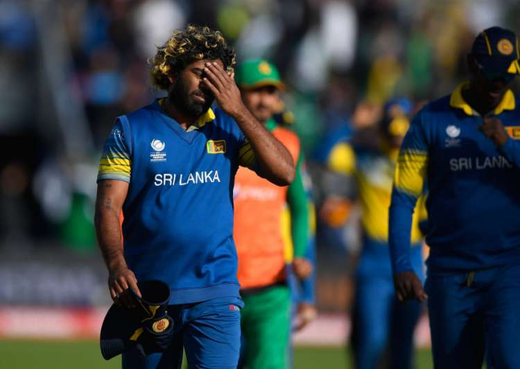 Lasith Malinga reacts after the ICC Champions League match- India Tv