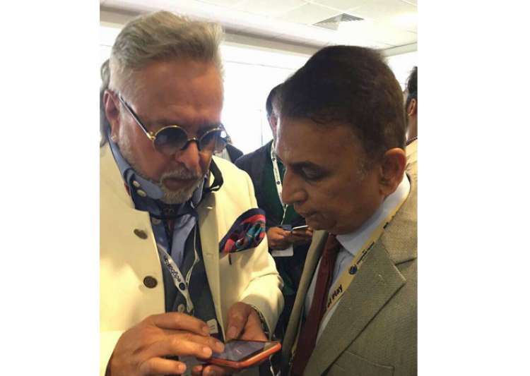 Vijay Mallya spotted at India vs Pak match with Gavaskar
