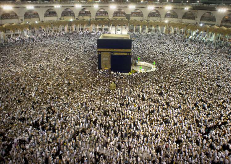 Pilgrims at the Grand Mosque in Mecca during the holy month- India Tv