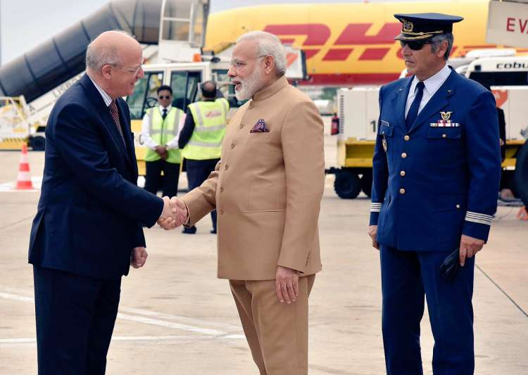 PM Modi arrives in Portugal on first leg of three-nation- India Tv