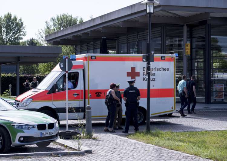 An ambulance stands near a subway station in Munich after- India Tv