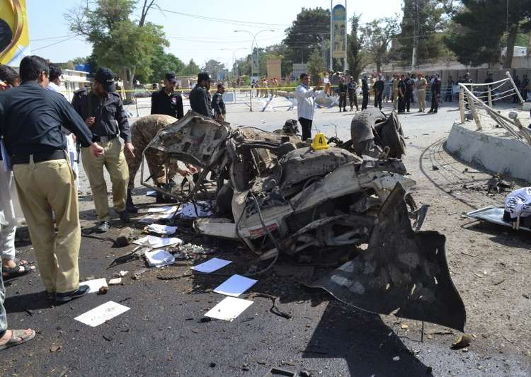 62 killed in multiple blasts and firing in 3 Pakistani cities