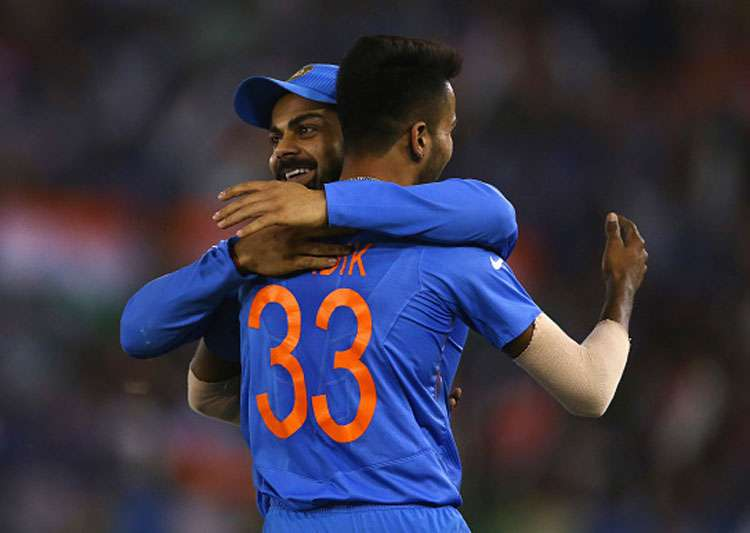 A file image of Virat Kohli and Hardik Pandya.- India Tv
