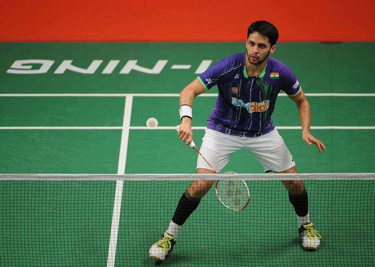 Parupalli Kashyap of India in action