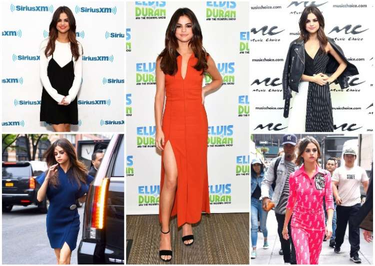 Selena Gomez looked stunning in six different outfits in- India Tv