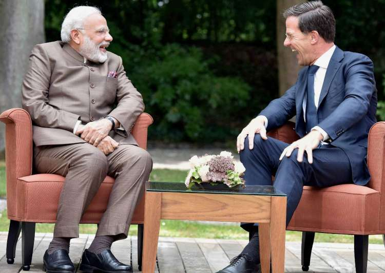 PM Modi meeting with Netherlands PM Mark Rutte at The Hague- India Tv