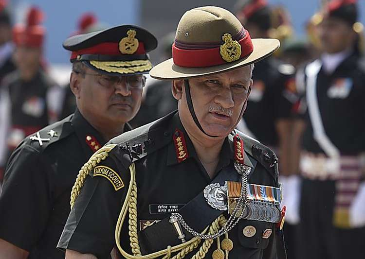 File pic of Indian Army Chief General Bipin Rawat - India Tv