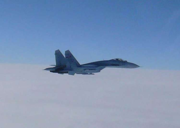 Russia said its Su-27 fighter jet intercepted an American- India Tv