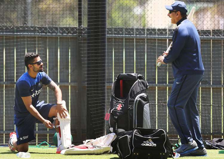 A file image of ex-India Team Director Ravi Shastri and- India Tv