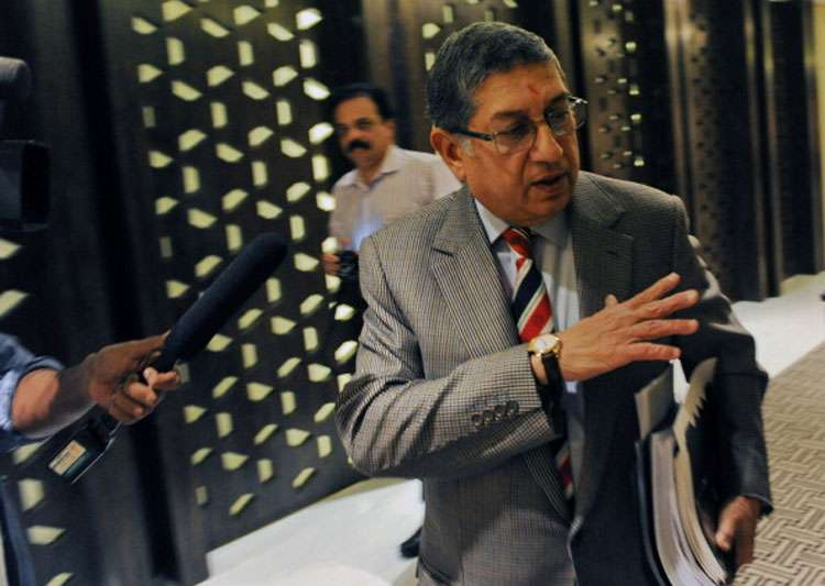 A file image of former BCCI president N Srinivasan.- India Tv