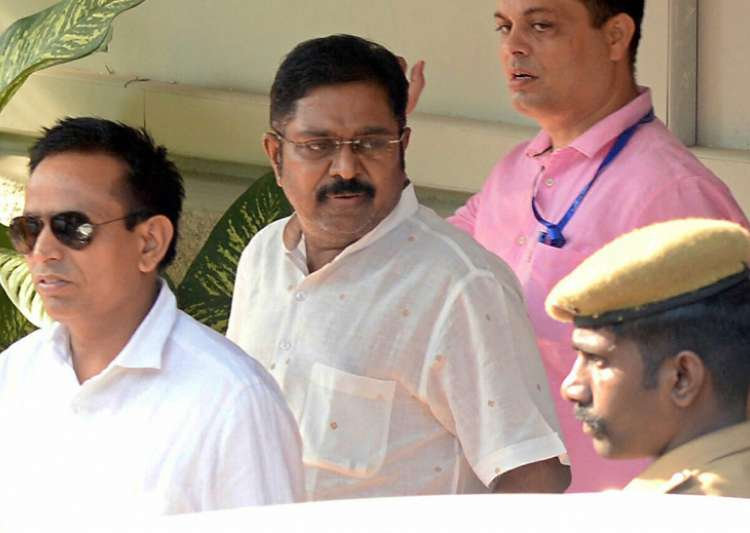 Dhinakaran came out on bail in the EC bribery case last week- India Tv