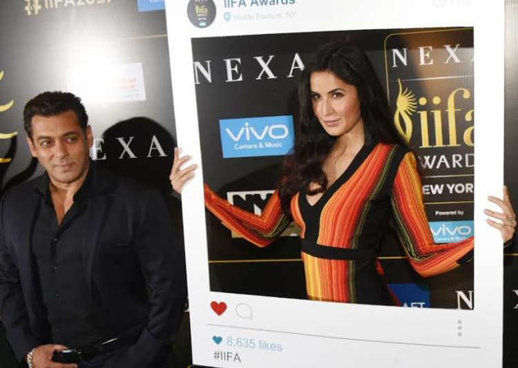 Salman Khan and Katrina Kaif share adorable moments at IIFA- India Tv