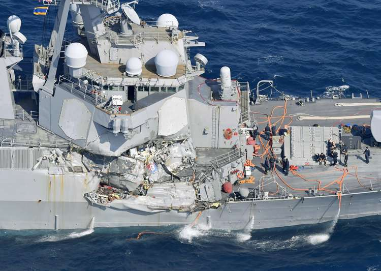 Bodies of missing sailors found on damaged USS Fitzgerald