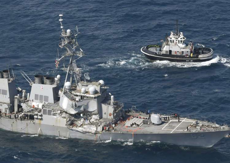 US Navy ship damaged in collision with container ship off- India Tv