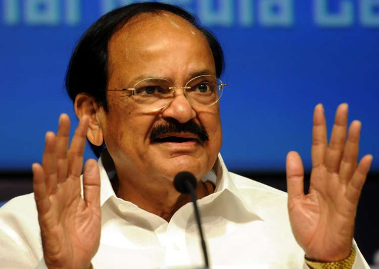 Union minister M Venkaiah Naidu addressing a press- India Tv