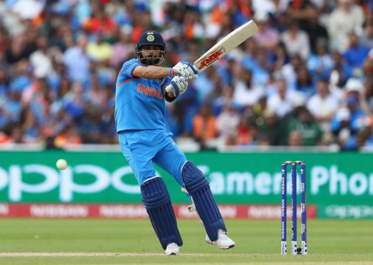 Virat Kohli of India pulls a delivery to the legside- India Tv