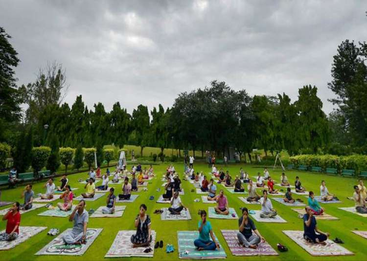 Yoga Day at DU, JNU