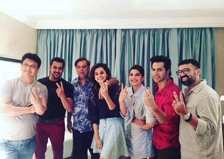 Judwaa 2: Varun Dhawan shoots with his 'childhood hero' Salman Khan