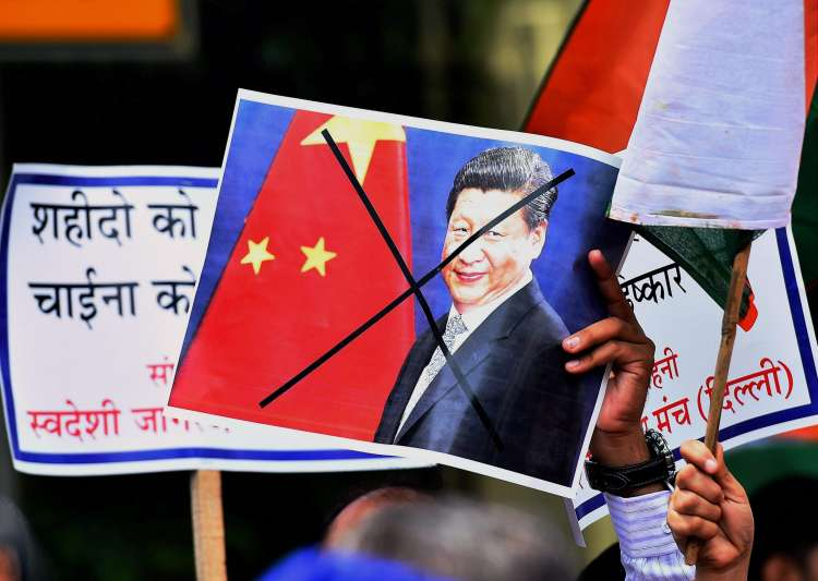 Protest against China near Chinese embassy in New Delhi on- India Tv