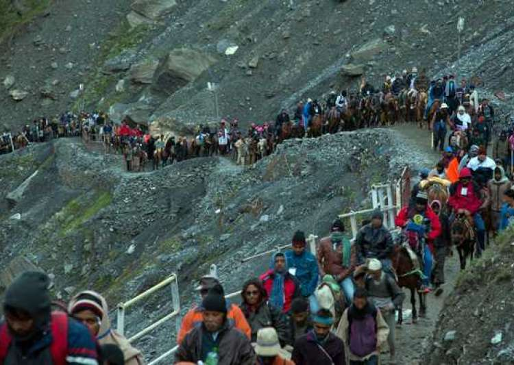 Amarnath Yatra resumes after day-long suspension- India Tv