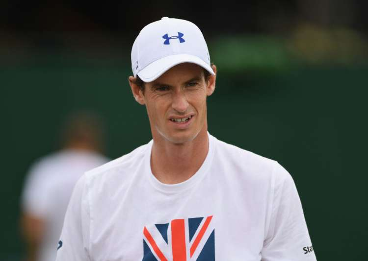 Andy Murray of Great Britain during practice at Wimbledon- India Tv