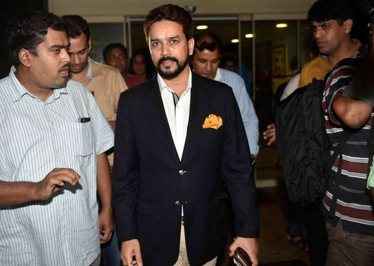 Anurag Thakur, Former BCCI President, coming out of BCCI