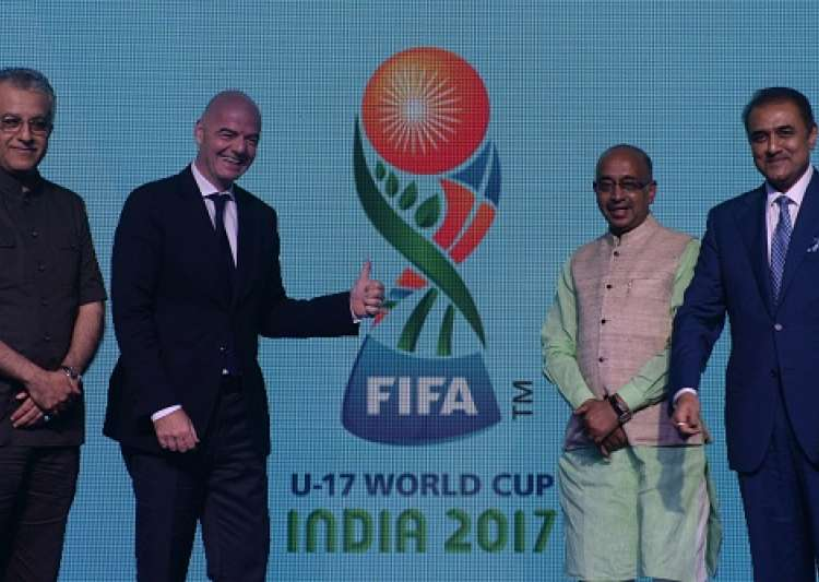 A file image of logo unveiling ceremony for the FIFA U-17