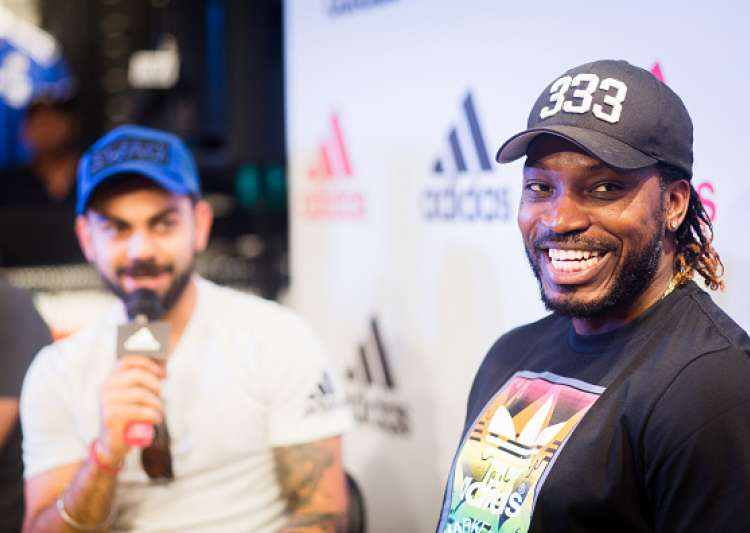 Chris Gayle at inaugural ceremony of a new store in- India Tv