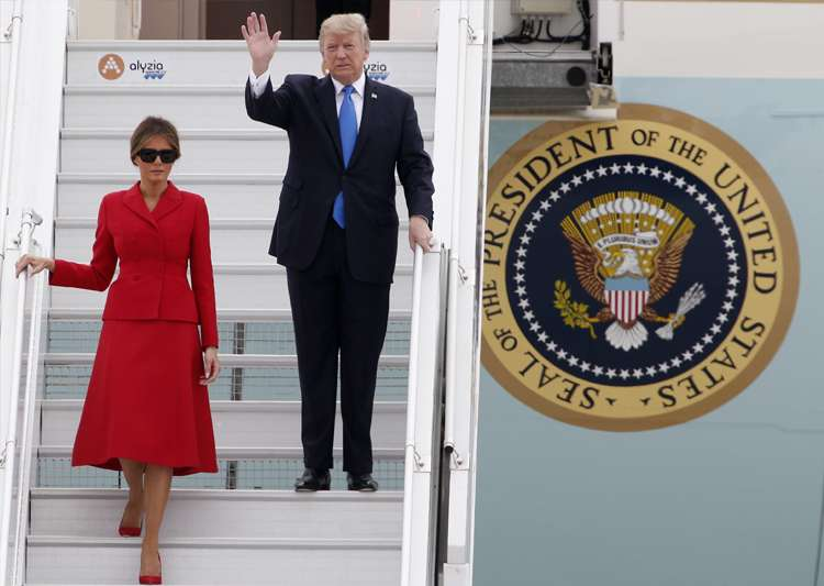 Donald Trump and FirstLady Melania arrive at Orly airport- India Tv