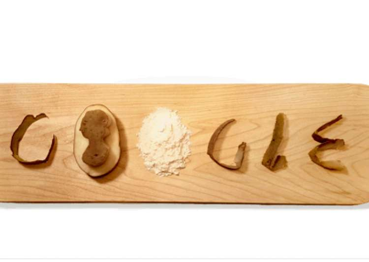 Why are there potatoes on the Google homepage?