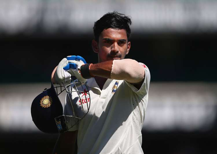 Lokesh Rahul of India leaves the ground- India Tv