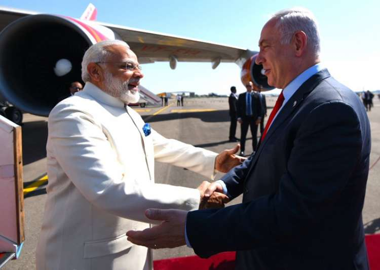 Modi today became first Indian PM to visit Israel - India Tv