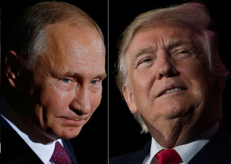 File pic - Vladimir Putin and Donald Trump - India Tv