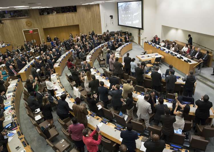 UN adopts global treaty banning nuclear weapons, India