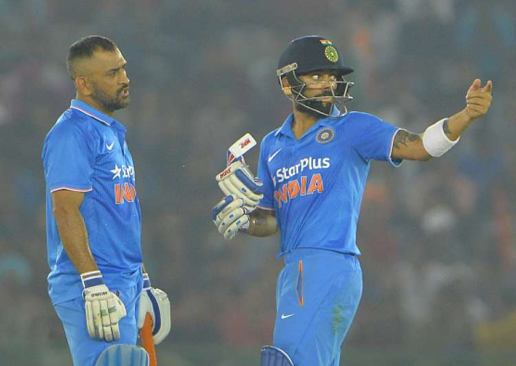 Virat Kohli and Mahendra Singh Dhoni of India during the- India Tv