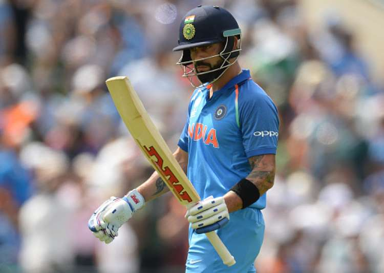 Virat Kohli of India leaves the field after being dismissed- India Tv